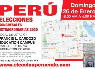 Local de votación para las Congresales Extraordinarias 2020