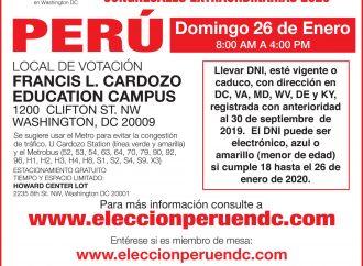 Local de Votación Elecciones Congresales Extraordinarias 2020